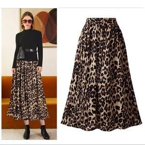 Velvet Leopard A Line Skirt